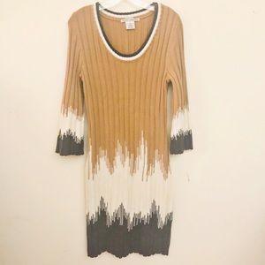 Maggy London 50% Merino Wool Sweater Dress Sz M